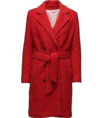 ulrike jacket 10150 wollen jas lange jas rood samsøe & samsøe