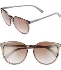 women's longchamp 56mm round sunglasses - turtledove violet