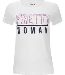 camiseta pretty woman color blanco, talla m