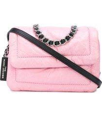marc jacobs bolsa tiracolo pillow mini - rosa