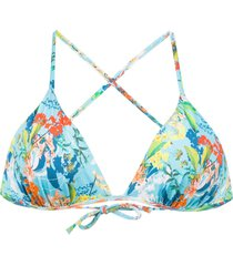 track & field maldivas bikini top - blue