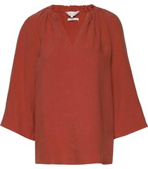 caritapw bl blouse lange mouwen rood part two