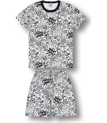 pijama marisol adulto  branco - kanui