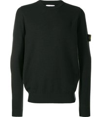 stone island long sleeved pullover - green