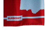 burberry double print love silk square scarf