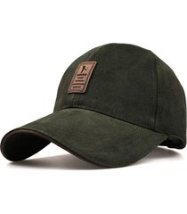 gorra golf ajustable # 2 - color verde logo marron