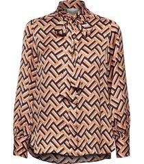 lori ls shirt blouse lange mouwen bruin second female