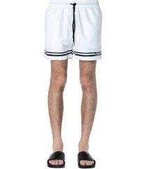 gcds white logo striped shorts