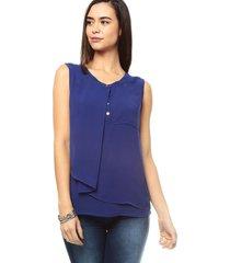 blusa sin mangas con capa charby 161404