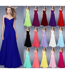 nchiffon wedding ball gown evening formal party bridesmaid dress stock size 6-18