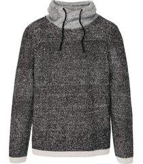 maglione con collo a scialle (nero) - rainbow
