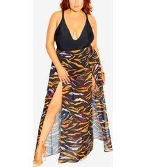 plus size amara split skirt