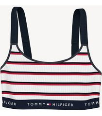 tommy hilfiger women's stripe bralette white/ red/ blue - s