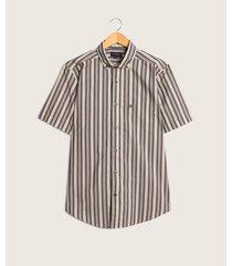 camisa manga corta con bolsillo preteñido
