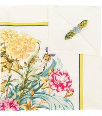 hermès pre-owned carre 90 regina by leila scarf - white
