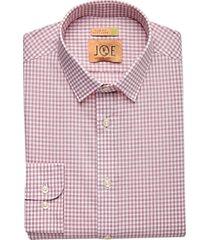 joe joseph abboud repreve® burgundy check slim fit dress shirt