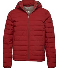 puffer fodrad jacka röd abercrombie & fitch