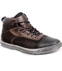 tênis cano alto masculino sandro moscoloni troite tamanho especial marrom escuro