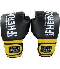 luva boxe fheras orion 14 oz preto/amarelo