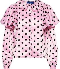 bowie shirt blus långärmad rosa résumé