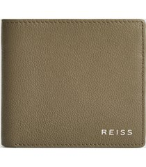 reiss benson - leather wallet in taupe, mens