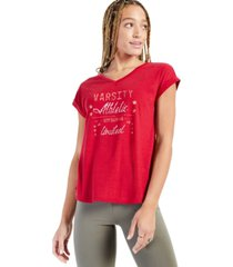 style & co petite graphic-print v-neck t-shirt, created for macy's
