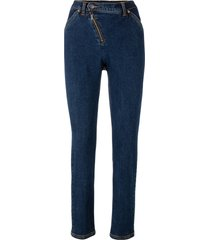 jeans con cerniera obliqua (nero) - bpc bonprix collection
