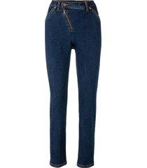 jeans con cerniera obliqua (nero) - bpc bonprix collection