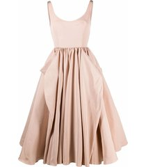 alexander mcqueen bow drape dress - pink