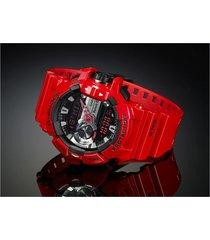 reloj g shock gba_400_4a rojo resina