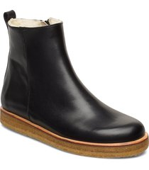 boots - flat - with zipper shoes boots ankle boots ankle boot - flat svart angulus