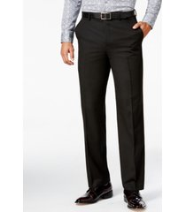 sean john men's classic-fit black solid pants