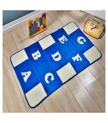 passadeira premium alfabeto azul 1,20m x 0,74cm