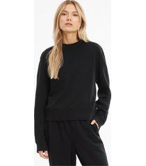 infuse sweater met ronde hals dames, zwart, maat m | puma