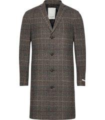 madison wool check coat yllerock rock brun les deux