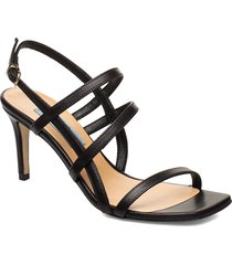 square string sandal sandal med klack svart apair
