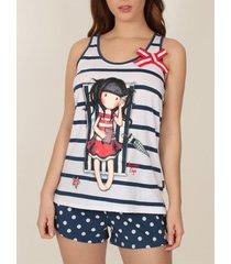 pyjama's / nachthemden admas pajamas tank top korte zomerdagen santoro