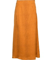 tabbygz skirt ms20 knälång kjol gul gestuz