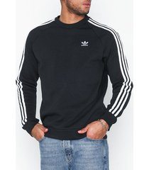 adidas originals 3-stripes crew tröjor svart