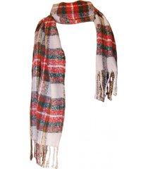 bufanda tartan highlands  crudo rojo viva felicia