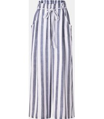 pantaloni a gamba larga tondi vintage a righe verticali