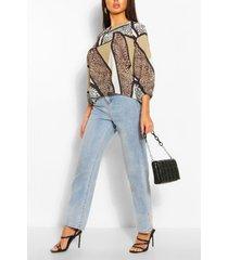 animal print batwing sleeve blouse, animal