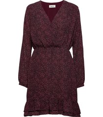 vancouver print dress korte jurk rood modström