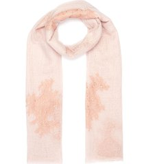 swarovski crystal lace patch cashmere scarf