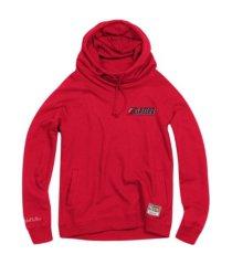 mitchell & ness women's portland trail blazers funnel neck fleece hoodie