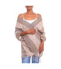 cotton shawl, 'masceti plaid' (indonesia)