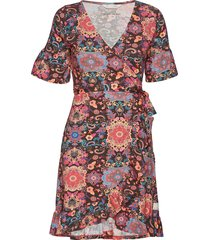 flower wrap dress korte jurk multi/patroon odd molly