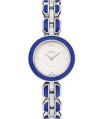 my way stainless steel & ceramic bracelet watch