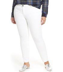 plus size women's kut from the kloth catherine boyfriend jeans, size 16w - white
