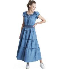 vestido elasticado en cintura curvi